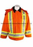 Hi Vis Winter Parka Thermal Insulated Parka Wind Proof Warmer Jacket