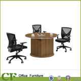 Melamine Laminated Wood Small Modern Round Office Desk