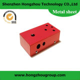 Red Color Powder Coated Cabinet Sheet Metal Part