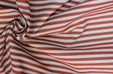 Brown/White Stripes 60 Cotton 40 Polyester Twill Yarn Dyed Fabric