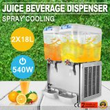 4.75 Gallon Per Tank*2 Frozen Cold Drink Beverage Milk Juice Dispenser