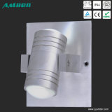 up and Down 2W LED Outdoor Wall Light with Brushed Aluminium Color