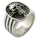 Men′s Skull Ring Stainless Steel Jewelry