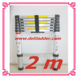 2m Aluminum Telescopic Ladder with En 131/SGS Certificate