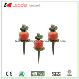 Polyresin Garden Mini Apple Stakes for Flowerpots Decoration