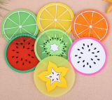 OEM Hot Sale Creative Silicone Fruit Cup Mat Coaster