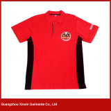 Custom Printing High Quality Red Black Sport Polo T Shirts for Men (P100)