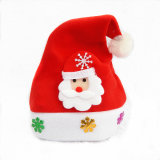Factory Sales Gold Velvet Christmas Hat