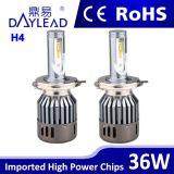 Wholesale Price 36W 3600lm 6000k H4 COB LED Car Headlight