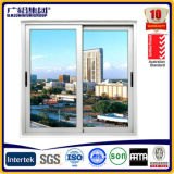 Aluminum Sliding Glass Window with Mosquito Net and Grills