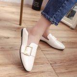 Jinjiang England Style PU Leather Wholesale China Women Shoes