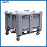Heavy Duty Stackable Solid Plastic Pallet Boxes for Storage