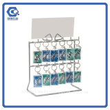 Counter Type Metal Wire Hanging Greeting Card Display Rack