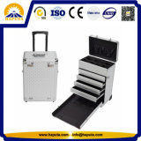Professional Rolling Makeup Trolley Case with 4 Drawers (HB-2054)