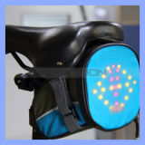 Water Resistant Nylon Bike Tail Bag Rear Bag with LED Warning Signal Light & Remote Control Bike Cycling Rear Light Bag