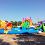 Mobile Water Park with Octopus Water Slide