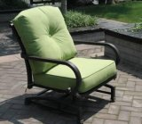 Rocker Deep Club Chair Garden Furniture with Cast Aluminum