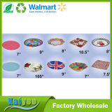 Wholesale Custom Round Square and Flower Shape Disposable Paper Plate