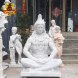 White Marble Indian Hindu God Lord Shiva Stone Statue