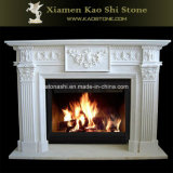 Natural/Sculpture/Carving Fireplace for Indoor Decoration