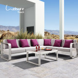 Elegant Outdoor L Shape Sectional Brushed Aluminum Garden Sofa Furniture for Home - Fairy