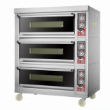 Commercial Bakery Equipment Prices Double Deck Gas Pizza Oven for Snack Bread Baking