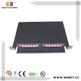 19 Inch Rack Mount 12 or 24 Ports St Simplex Single Mode Fiber Patch Panel