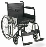 Steel Foldable Economic Cheapest Commode Wheelchair (ALK608)