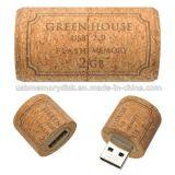 OEM Cork Wood USB Memory Stick U Disk Storage Device (WD-009)