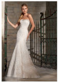 2015 Lace Net Crystal Beading Bridal Wedding Dresses 2705
