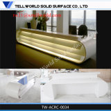 Contemporary White New Design Big Office Furniture Marble Reception Desks
