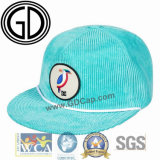 Green Cool Winter Flat Bill Snapback Hat Cap with Embroidery Badge