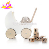 New Arrival Educational Wooden Kids Push Cart for First Step W16e112