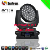 36X15W Stage Lighting RGBW 4 in 1 with Zoom LED Moving Head Wash