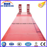 60 Tons Tri-Axle Low Bed Semi Trailer with Foldable Ramp