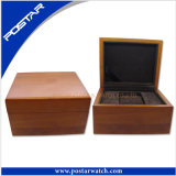High-End Solid Wood Watch Box with Inside Velvet for Single Watch