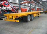 China Factory Good Price 20FT/40FT Flatbed Container Trailer Flat Bed Truck and Trailer Manufacturers Flatbed Semi Trailer with Container Lock in Kenya