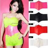 New Fashion Wide Elastic Corset Lady Waistband PU Belt