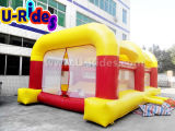 inflatable air shooter game with 4 air shooting gun