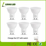 GU10 LED Light Bulbs 50 Watt Equivalent Colour Changing 6000K-2700K-4000K LED Spotlights