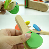 Wooden Castanet Clapper Handle Musical Instrument Preschool Percussion Kids Toy