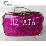 Economic Cheap PU Leather Waterproof Hologram Cosmetic Bag