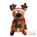 Electrical Talking Animal Toy Christmas Deer Plush Dolls