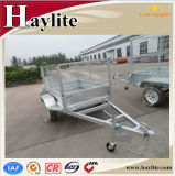 Wholesale Hot DIP Galvanised Farm Using Box Trailer with Jockey Wheel