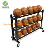 Retail Store Metal Storage Rack Basketball Football Display Stand