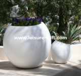 Large Decorative Ball Fiberglass Plant Flower Pot