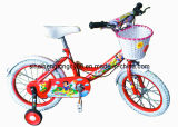 Red Girl Children Bicycle with Front and Rear White Tire (SH-KB141)