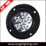 E-Approved DC 12V 24V 4.5 Inch 18W Round Flush Mount LED Work Lights