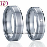 Silver Inlay Stainless Steel Jewelry Ring Titanium Ring