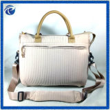 Beige Corduory Women Handbag for Autumn Season